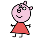 Coloring Pepa Pig book for kids